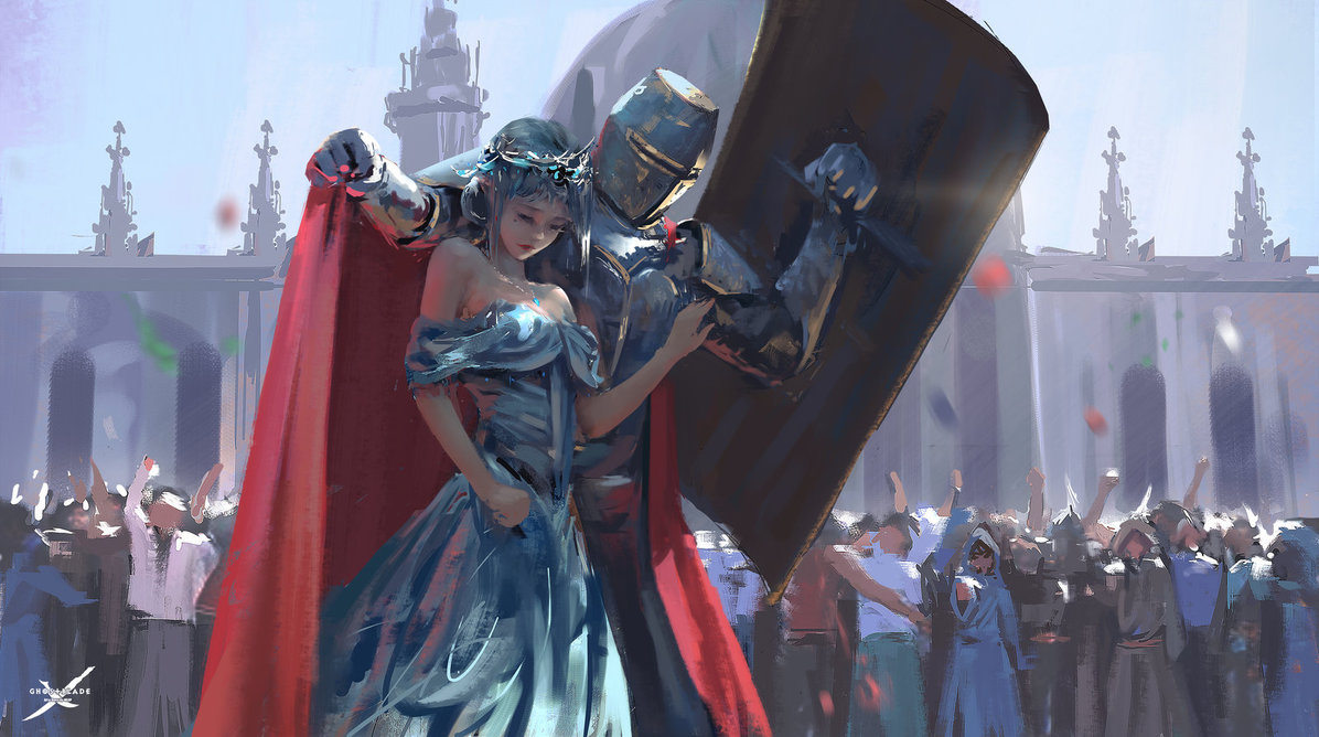 guard knight protecting princess know your meme