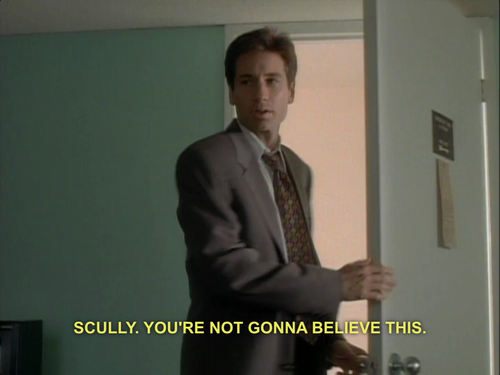 Scully, you're not gonna believe this | X-Files | Know Your Meme