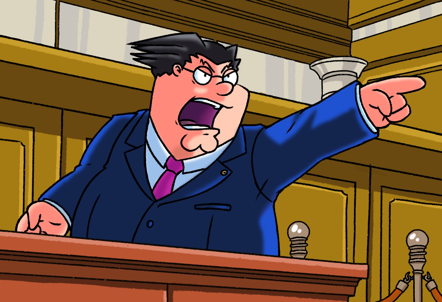 Peter Griffin Ace Attorney Phoenix Wright Ace Attorney Know