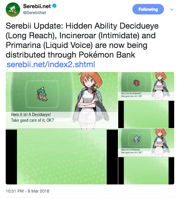 Hidden Ability Alola Starters Are Now Available Pokemon Sun And