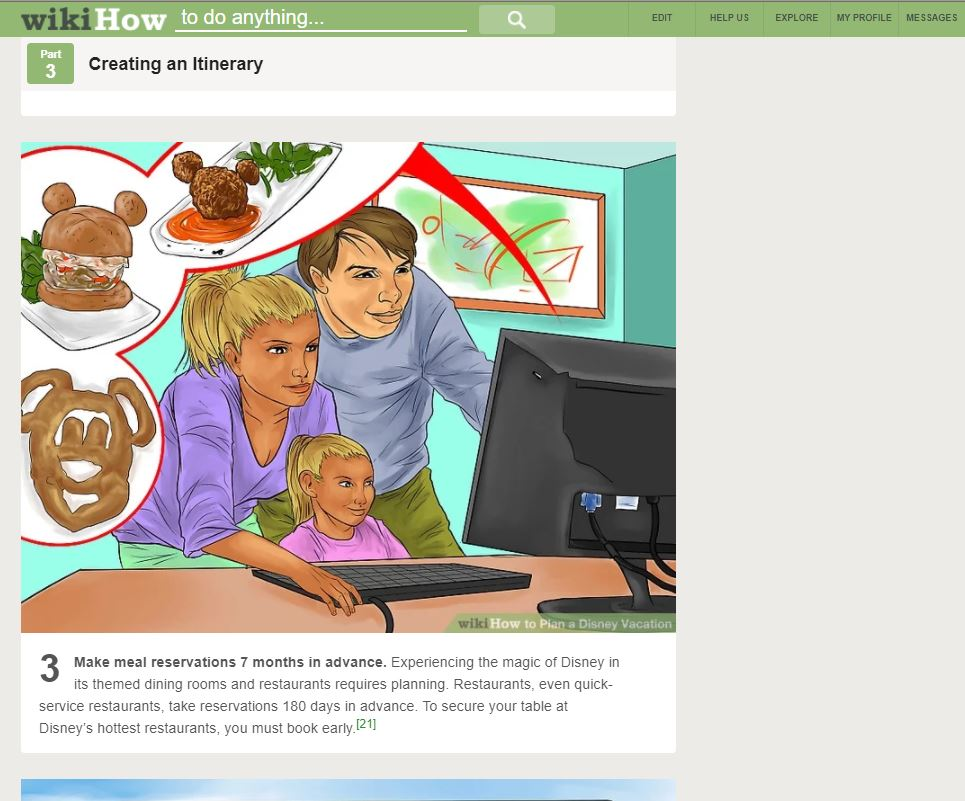 Disney Vacation Wikihow >> A Screenshot Of Part 3 Step 3 Of How To Plan A Disney Vacation