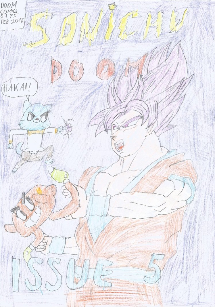 Super Saiyan Purple Son Goku Vs Gumball Watterson And Darwin
