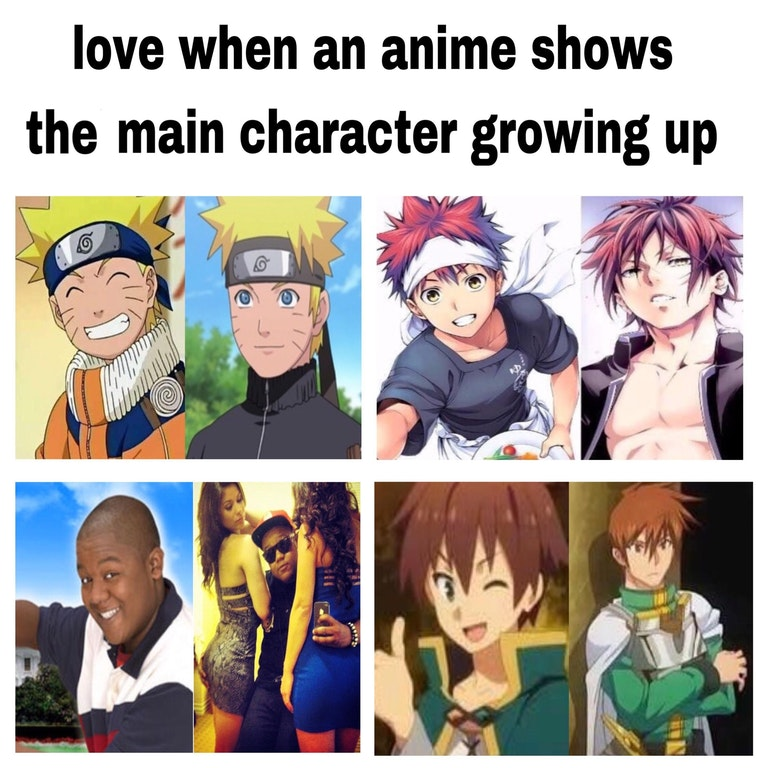 i love when an anime shows the main character growing up anime