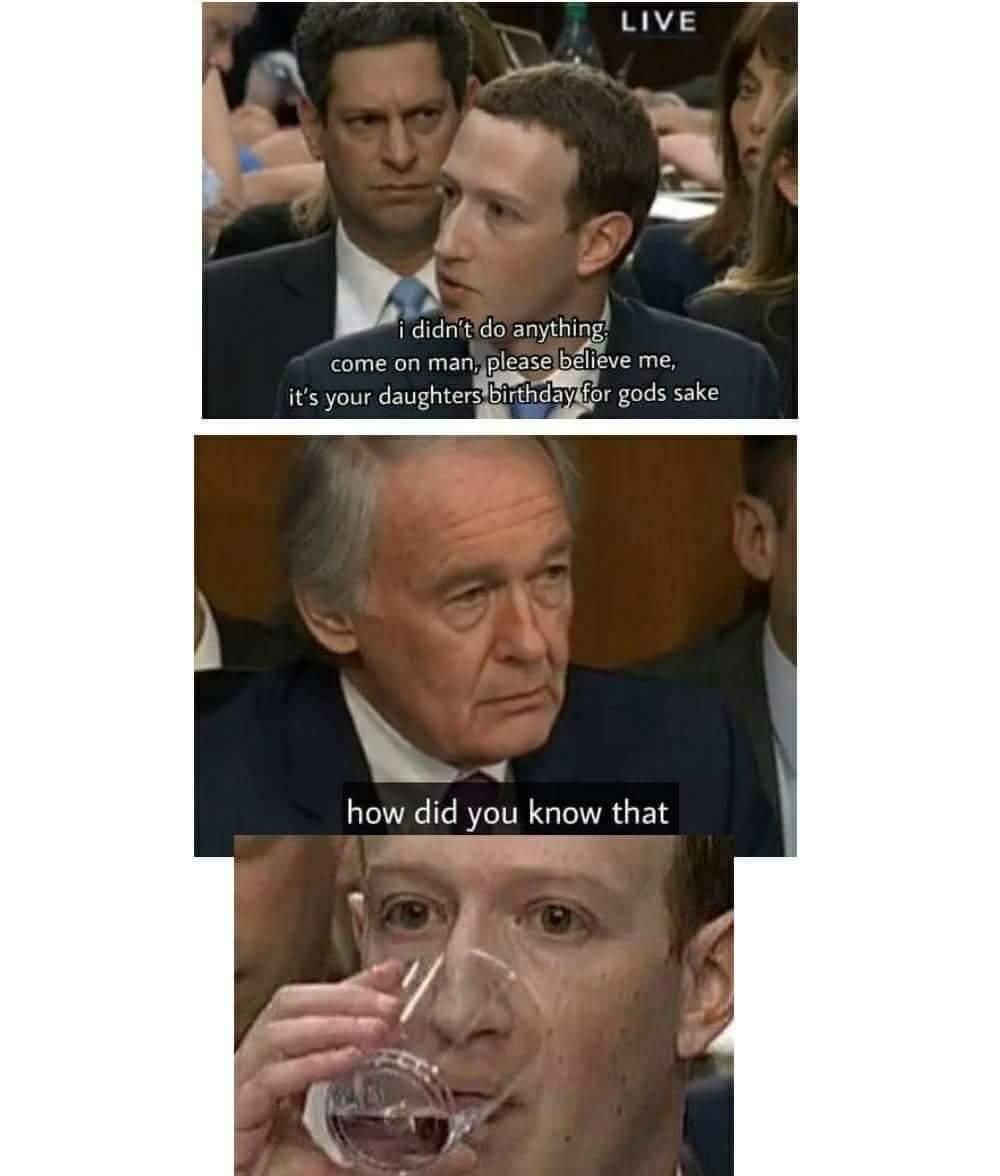 Daughter's Birthday | Mark Zuckerberg Congressional Hearings