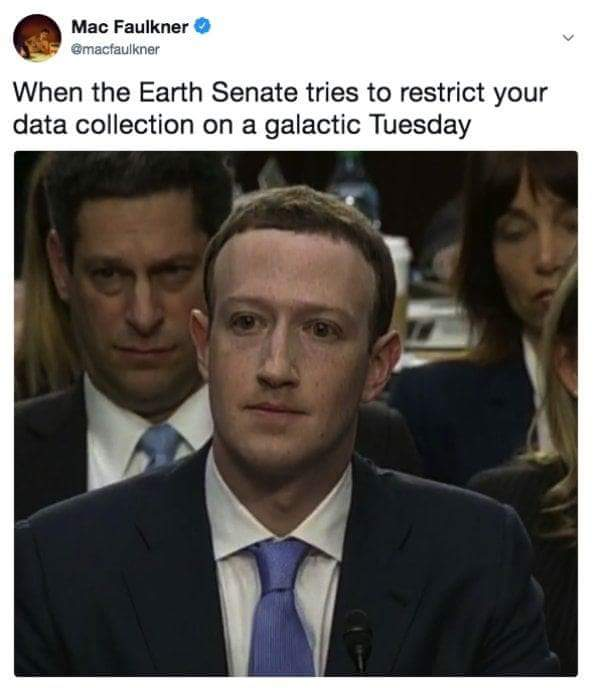 Earth Senate on a Galactic Tuesday | Mark Zuckerberg Congressional Hearings | Know Your Meme