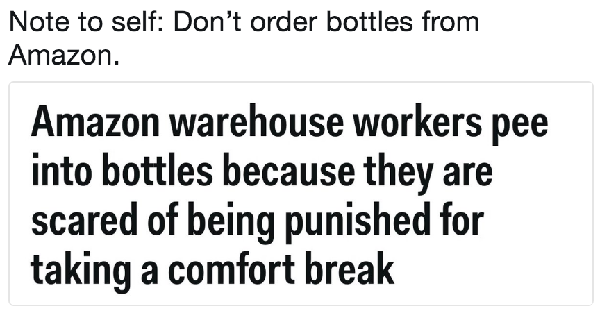 Note To Self Don T Order Bottles From Amazon Amazon Warehouse