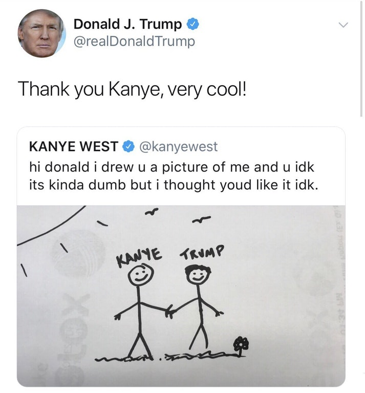 i drew u a picture thank you kanye very cool know your meme