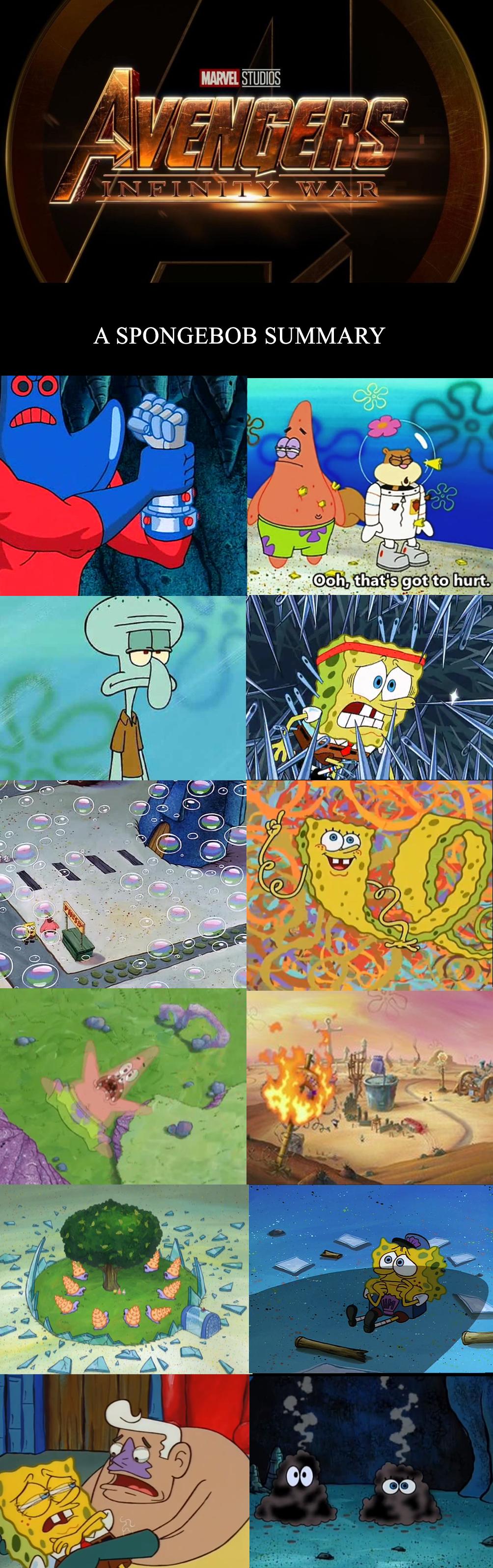 Marvel studios a spongebob summary ooh thatis got to hurt 6