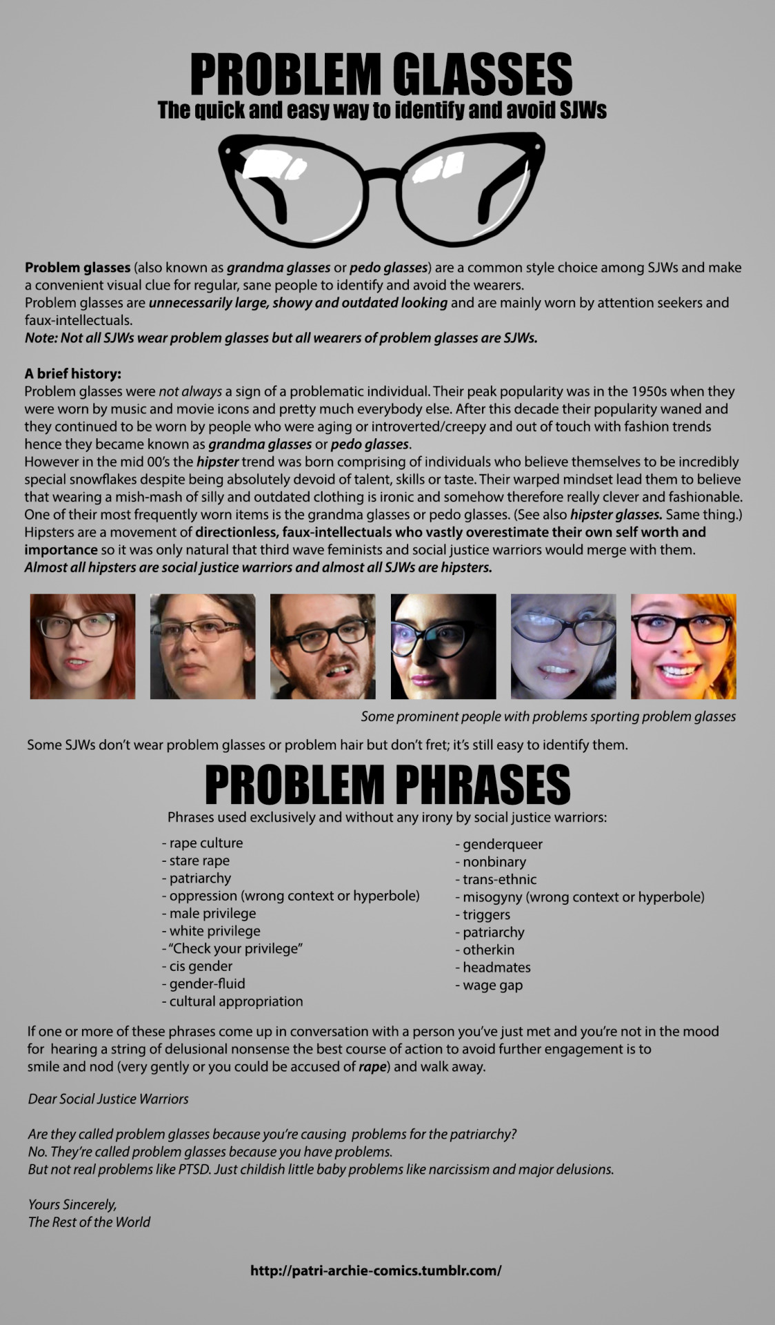 Problem Glasses The Quick And Easy Way To Identify And Avoid Sjws
