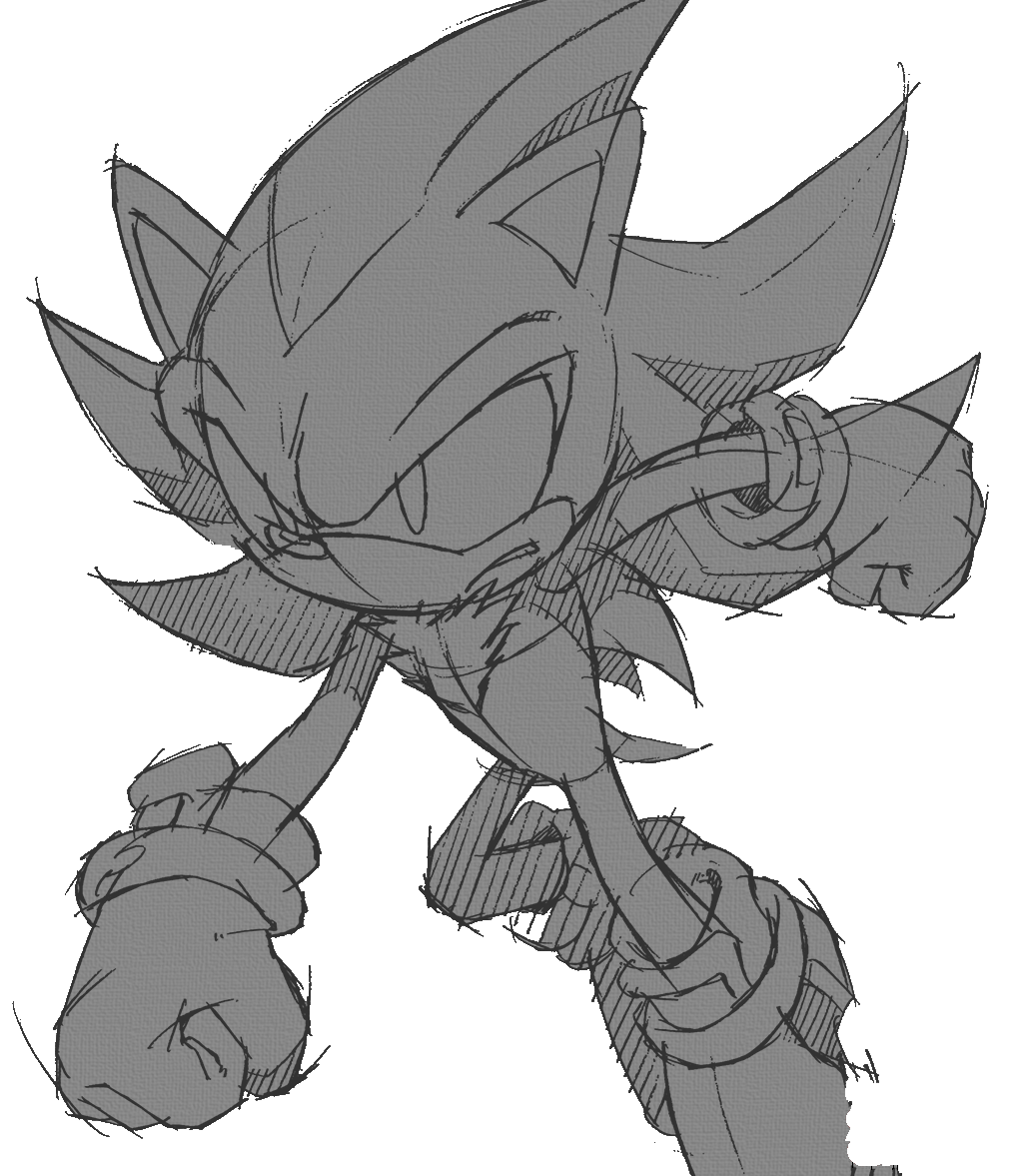 Shadow Sketch 3 Sonic The Hedgehog Know Your Meme
