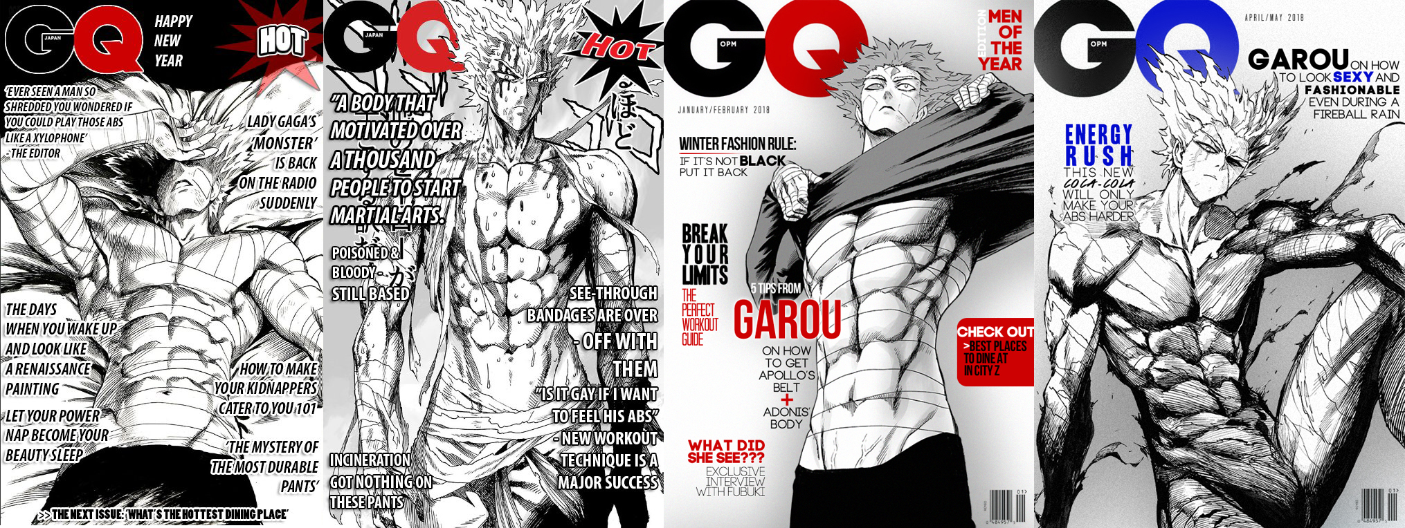 Garou S Magazine Covers One Punch Man Know Your Meme
