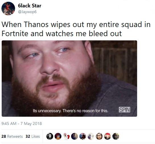 Thanos Y U Do Dis Fortnite Know Your Meme
