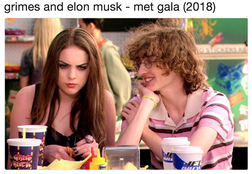 grimes and elon musk - met gala (2018) | Elon Musk and