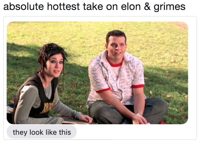 absolute hottest take on elon & grimes | Elon Musk and