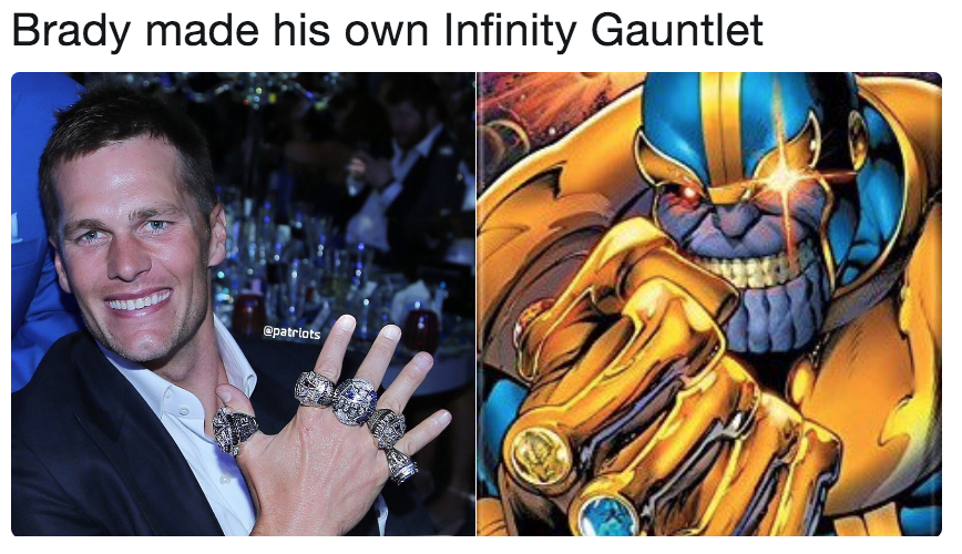 Brady Made His Own Infinity Gauntlet The Infinity Gauntlet Know