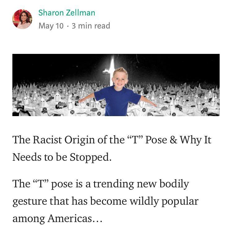 the racist origin of the t pose