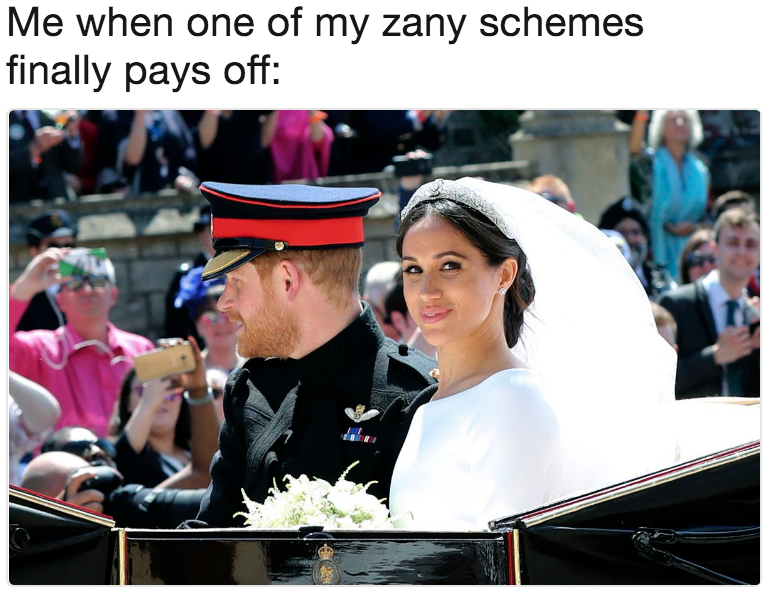 Who Pays For The Royal Wedding.Me When One Of My Zany Schemes Finally Pays Off Royal Wedding Of