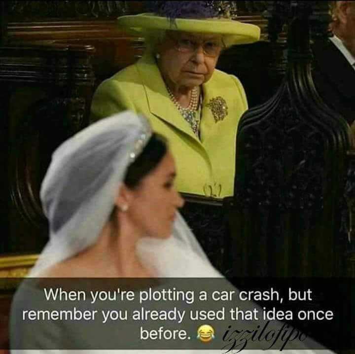 Royal Wedding Memes.Queen Contemplating Another Accident Royal Wedding Of Prince