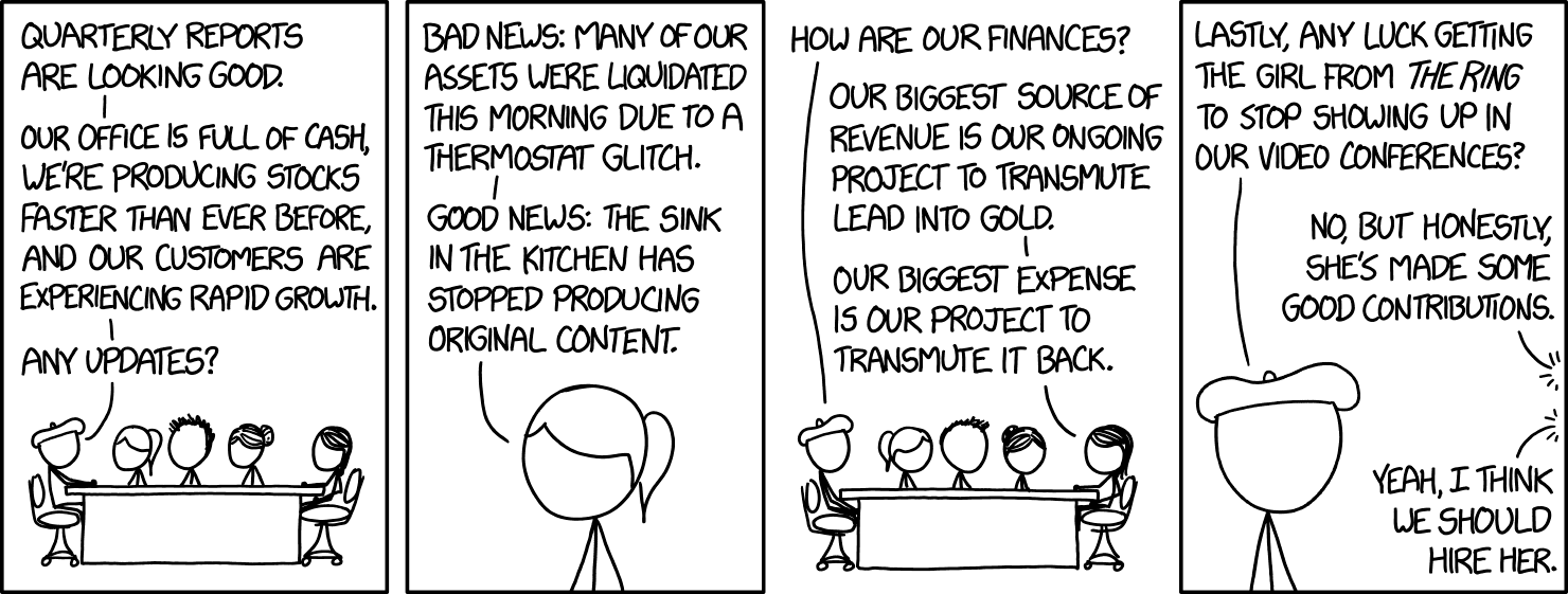 Business Update | xkcd | Know Your Meme