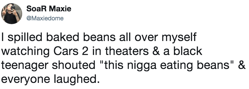 I Spilled Baked Beans All Over Myself Watching Cars 2 In Theaters