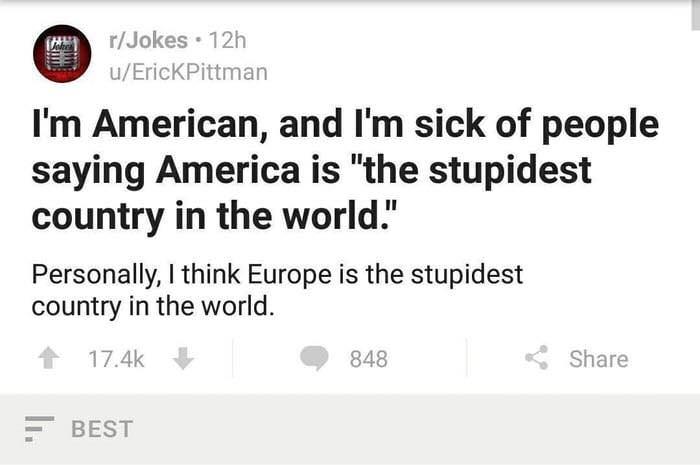 Jokes 12h U ErickPittman Im American And Lm Sick