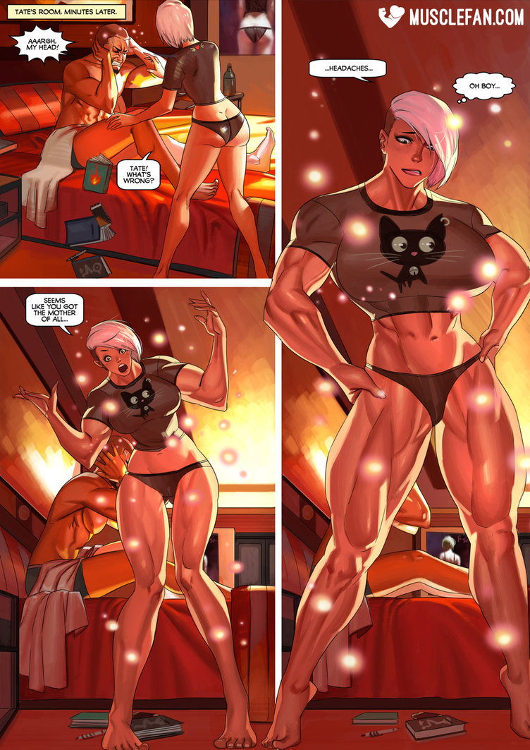Growth comics muscle female home