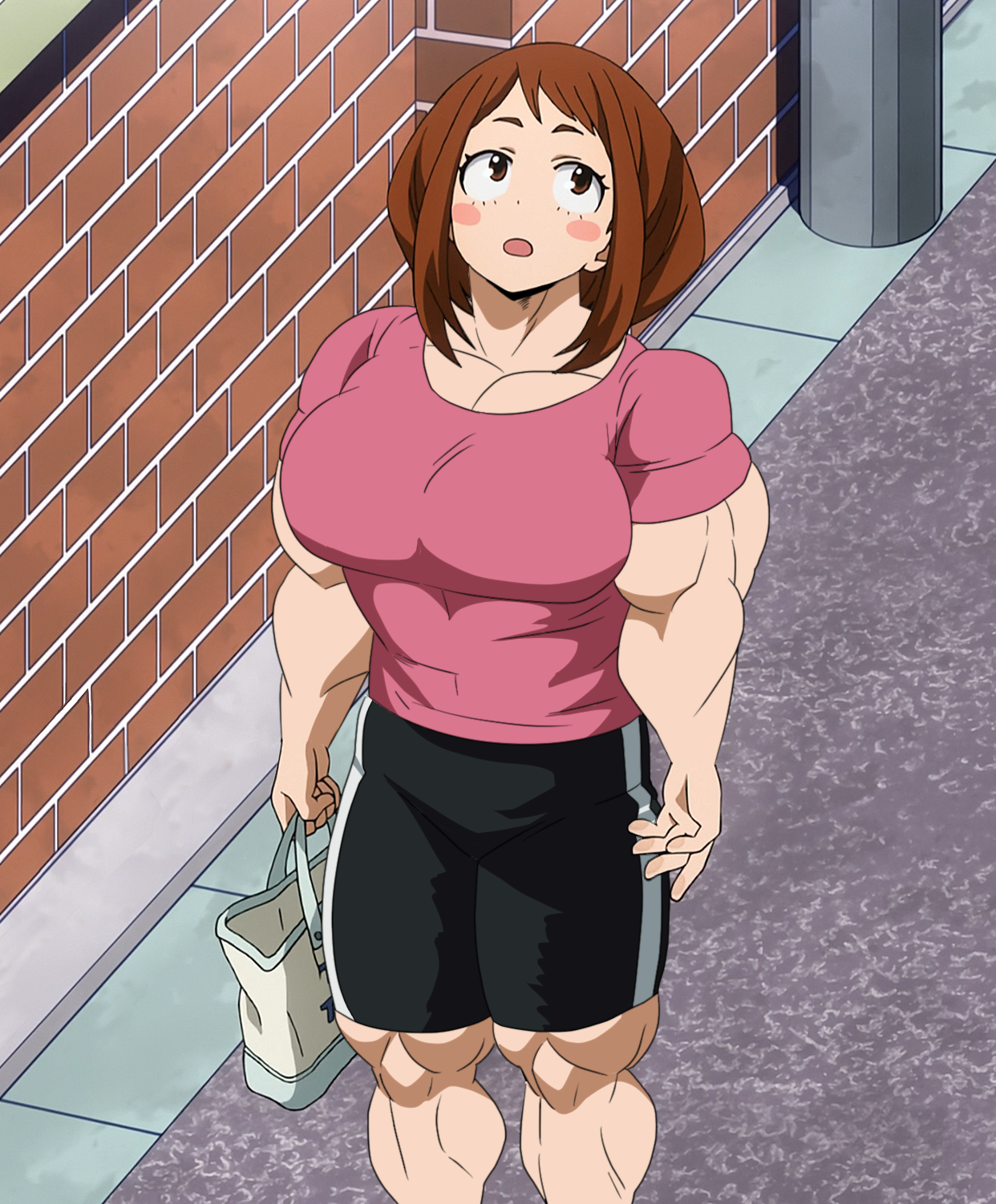 Anime Girl Growth casually ripped   muscle growth   know your meme