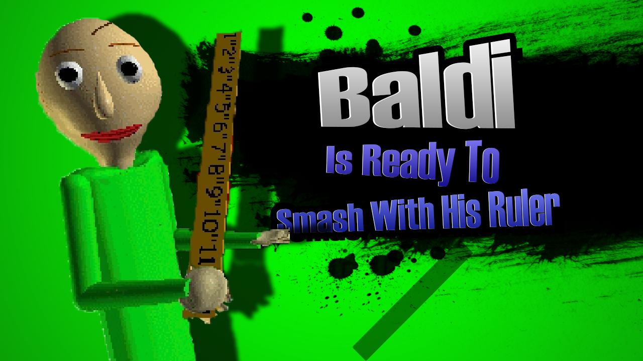 Baldi Joins Super Smash Bros | Baldi's Basics in Education
