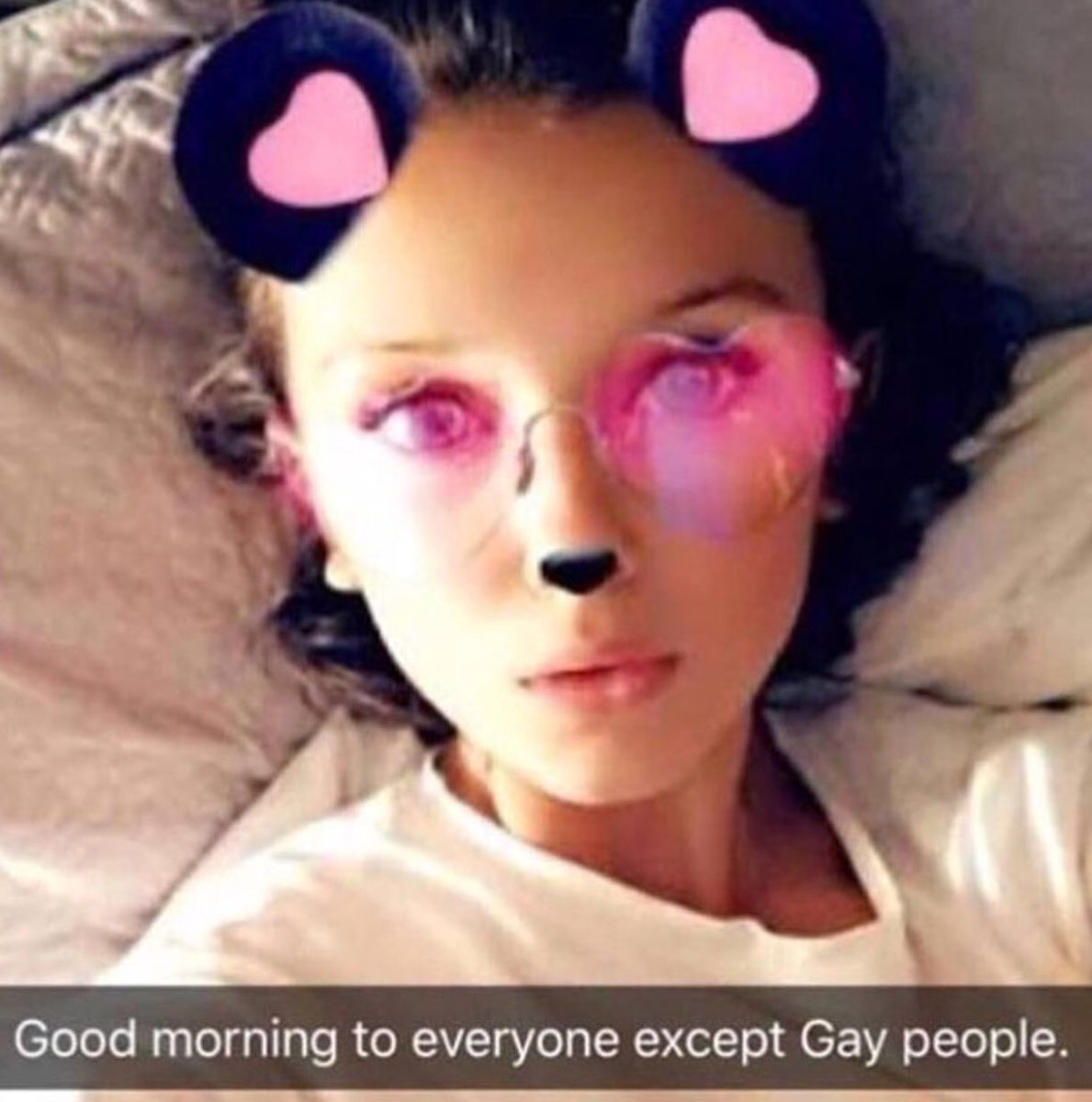 Good Morning To Everyone Except Gay People