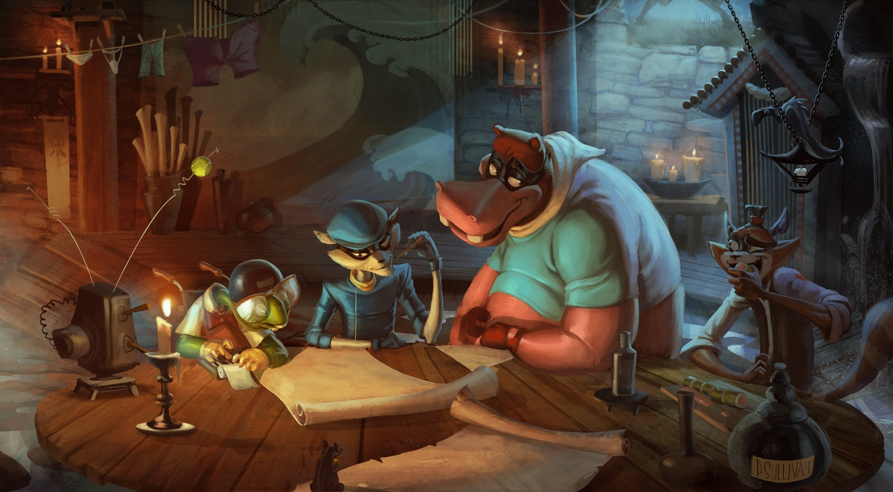Sly Cooper Concept Art