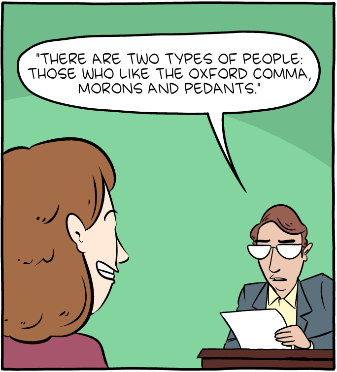 oxford comma saturday morning breakfast cereal know your meme