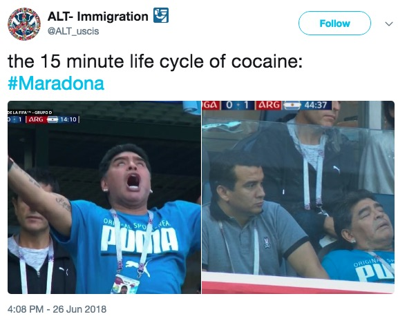 Life Cycle Of Cocaine Maradonas World Cup Celebrations Know