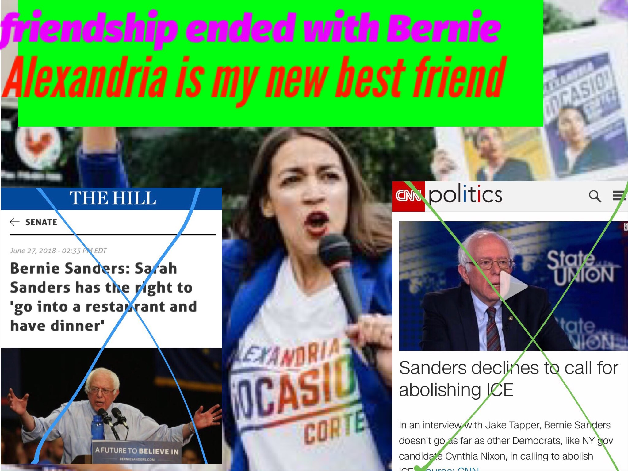 Friendship Ended With Bernie Alexandria Ocasio Cortez Know Your Meme