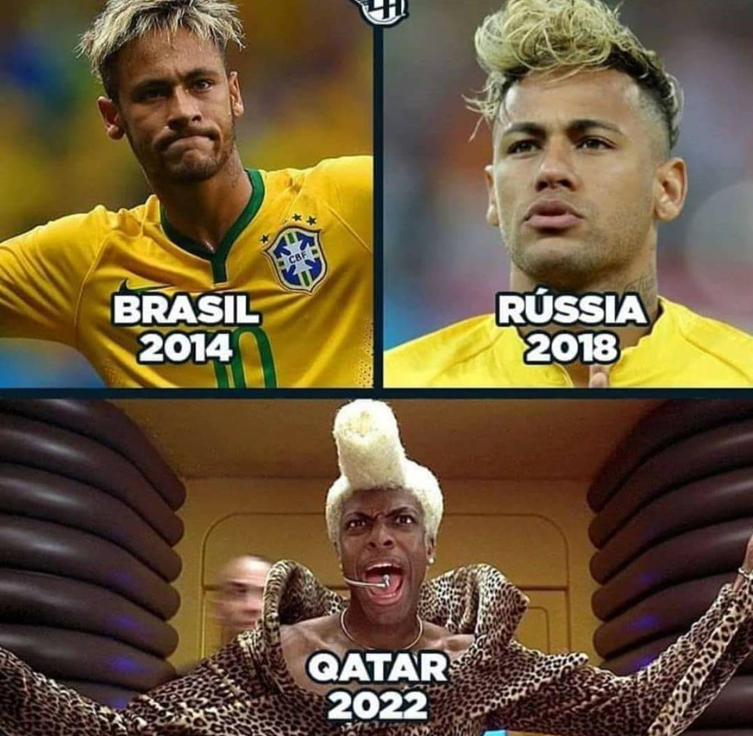 evolution of neymar's world cup hair style   neymar   know your meme