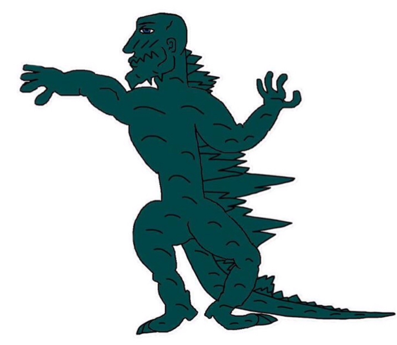 the chad godzilla earth godzilla know your meme rh knowyourmeme com gorilla clip art godzilla clipart