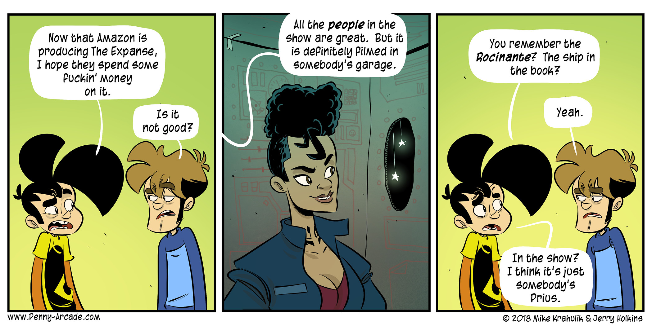 Expansion penny arcade know your meme now that amazon is producing the expanse i hope they spend some puckin money m4hsunfo