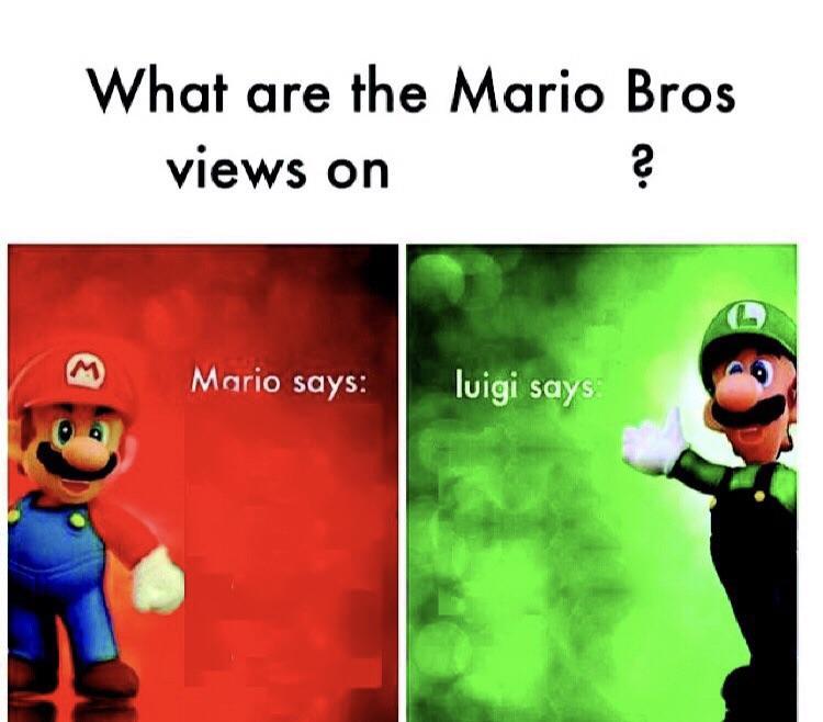Template Mario Bros Views Know Your Meme