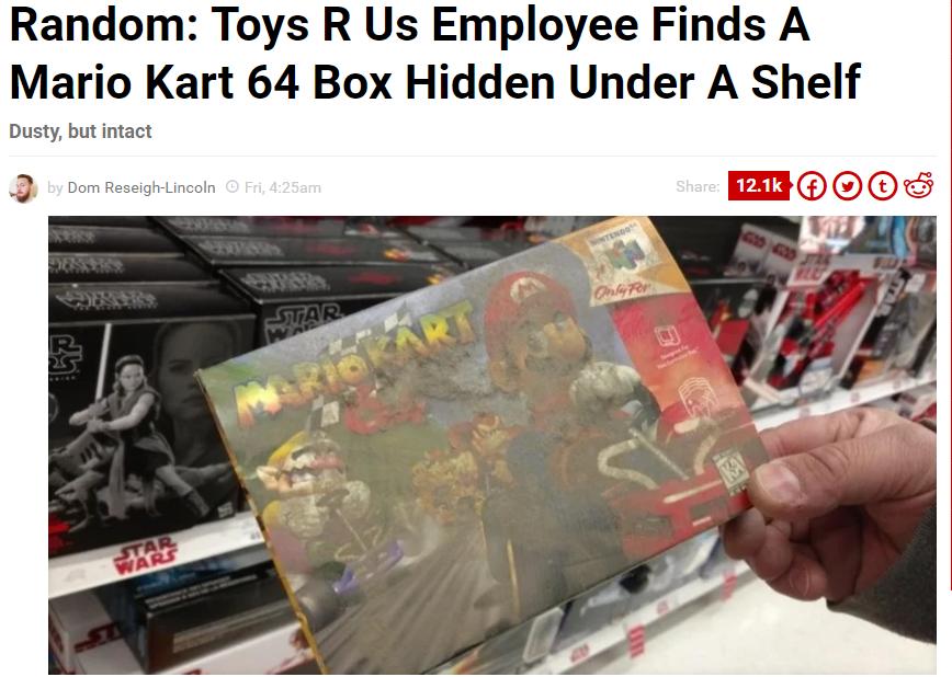 mario kart 64 toys