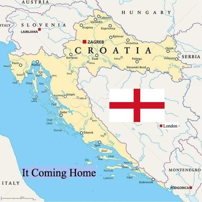 It\'s Coming Home | Croatia-Bosnia Border Map | Know Your Meme