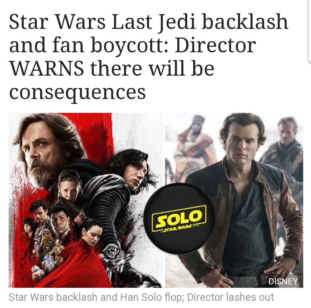 To Star Wars Fans Boycotting The Franchise There Will Be