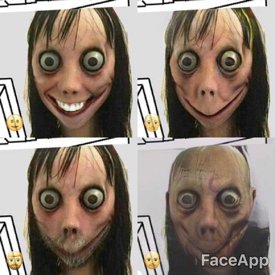 faceapp momo   Momo Challenge   Know Your Meme