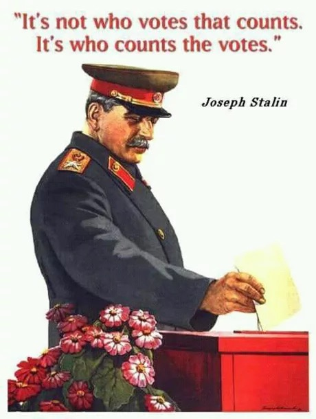 Image result for stalin he who counts the votes