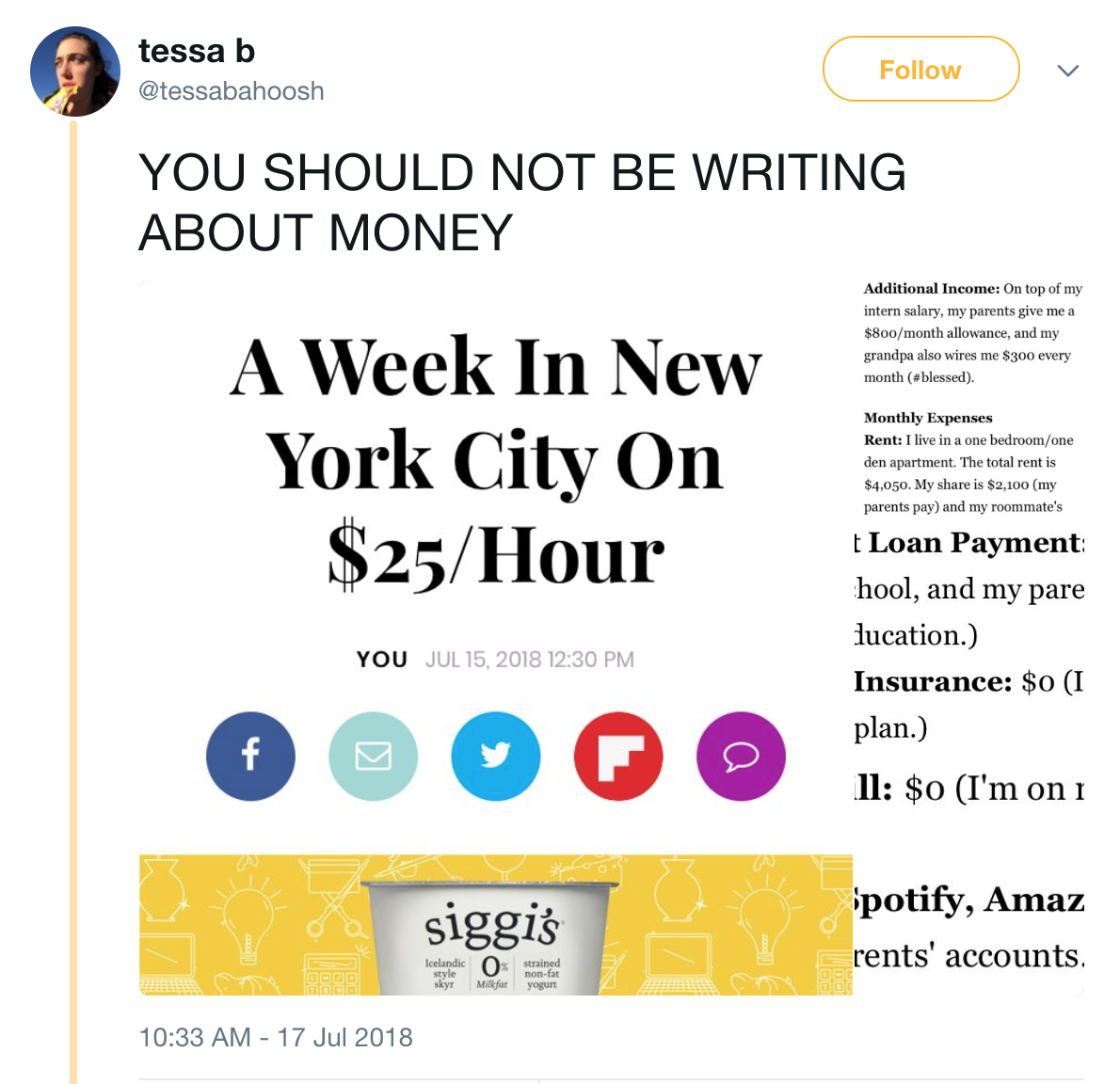 writing about money