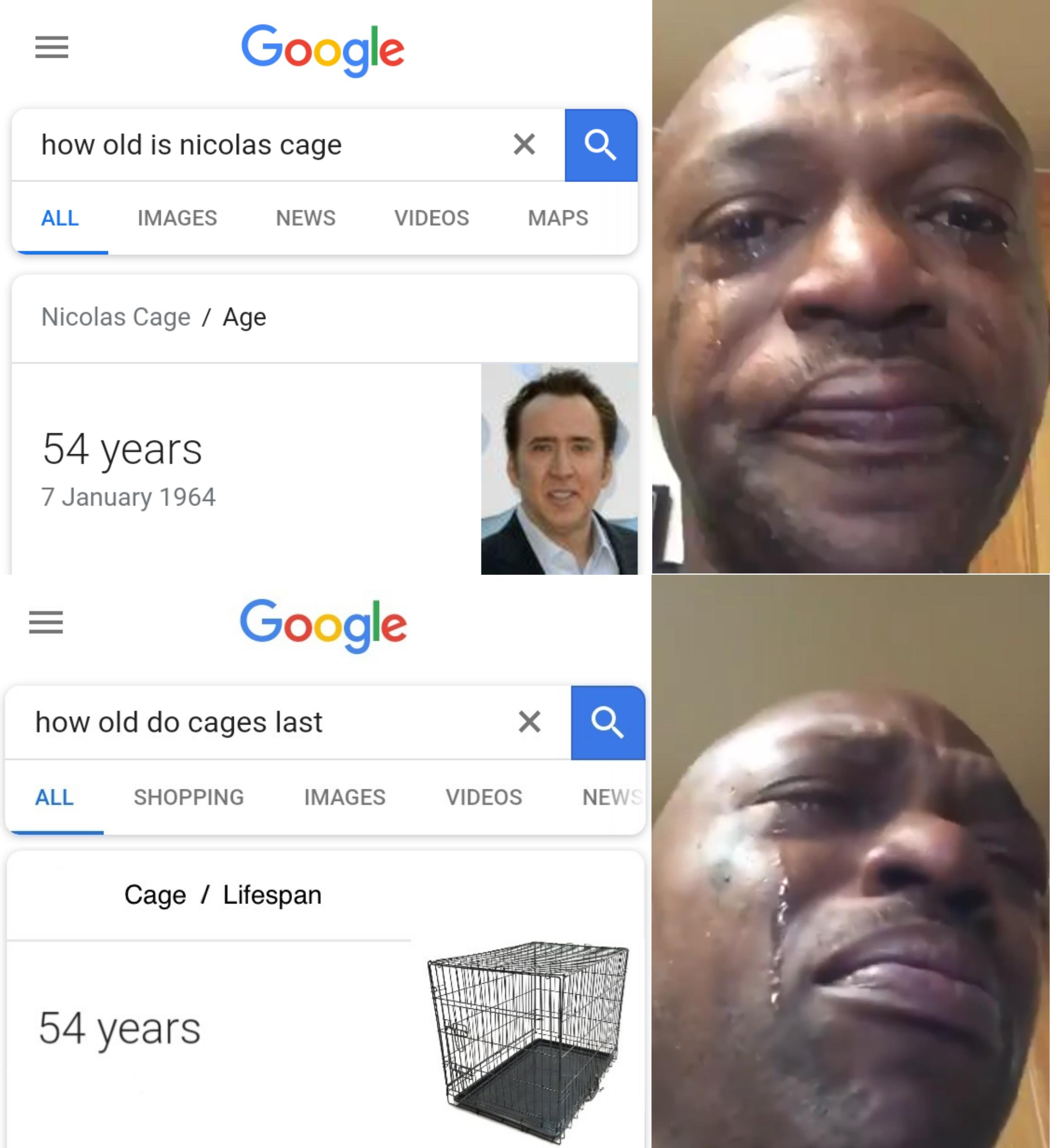 Google How Old Is Nicolas Cage All Images News Videos Maps Nicolas Cage Age 54 Years