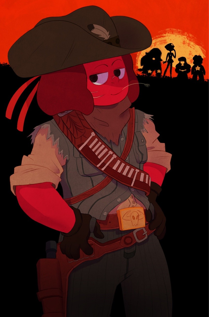Ruby In John Marston S Outfit From Rdr Steven Universe
