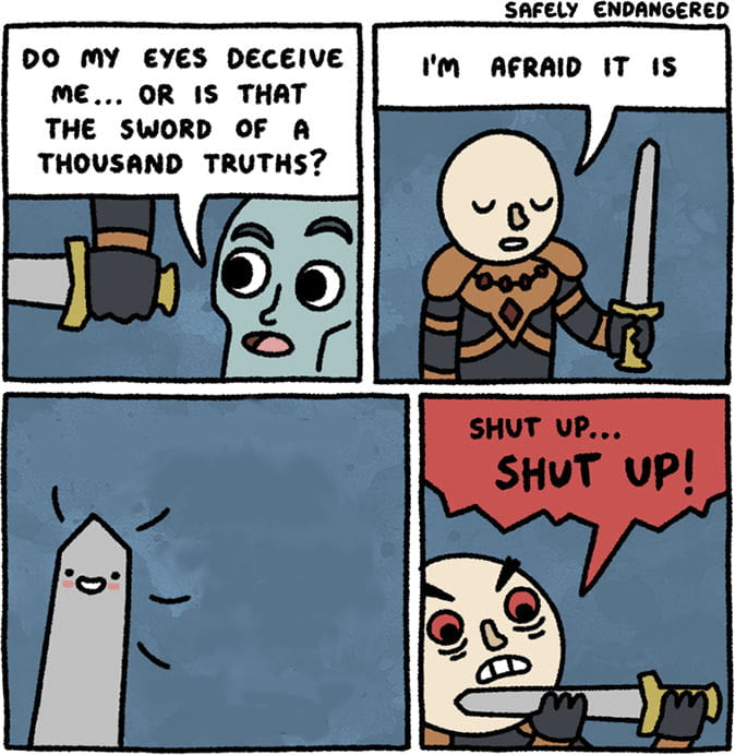 Template Sword Of A Thousand Truths Know Your Meme