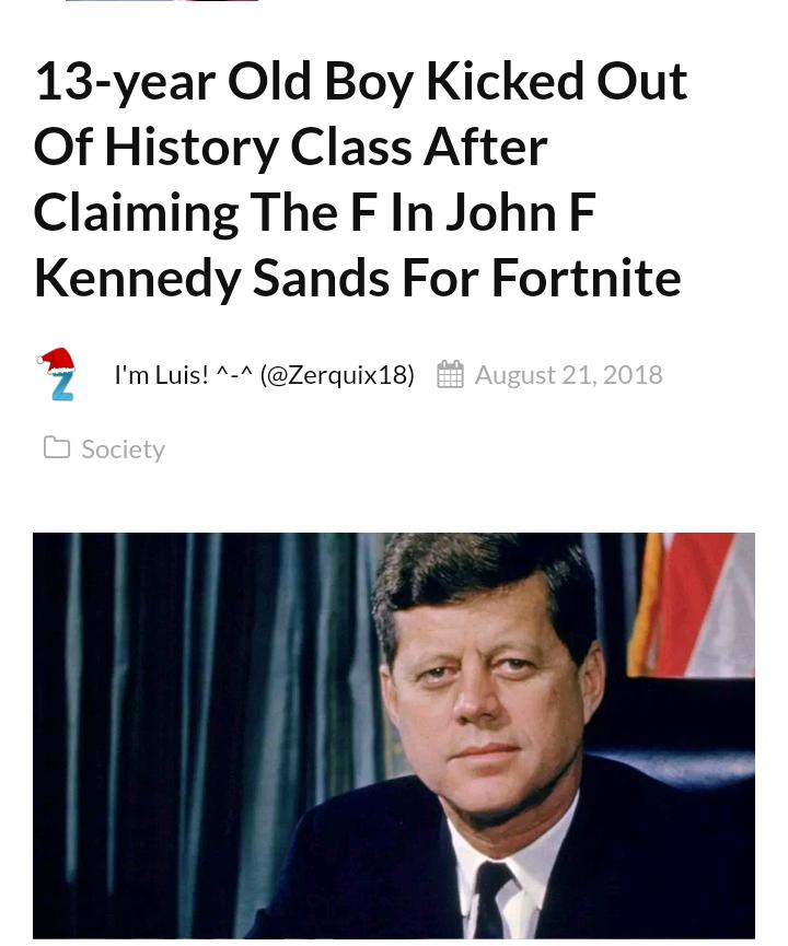 John Fortnite Kennedy | Fortnite | Know Your Meme