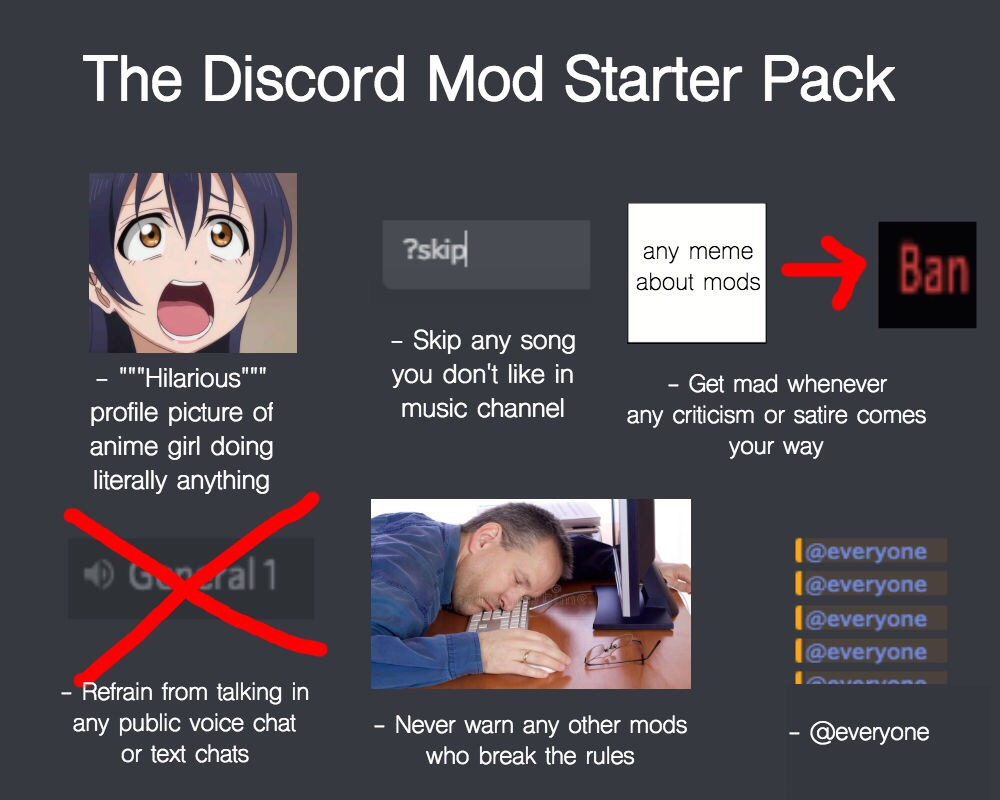 the discord mod starter pack starter packs know your meme