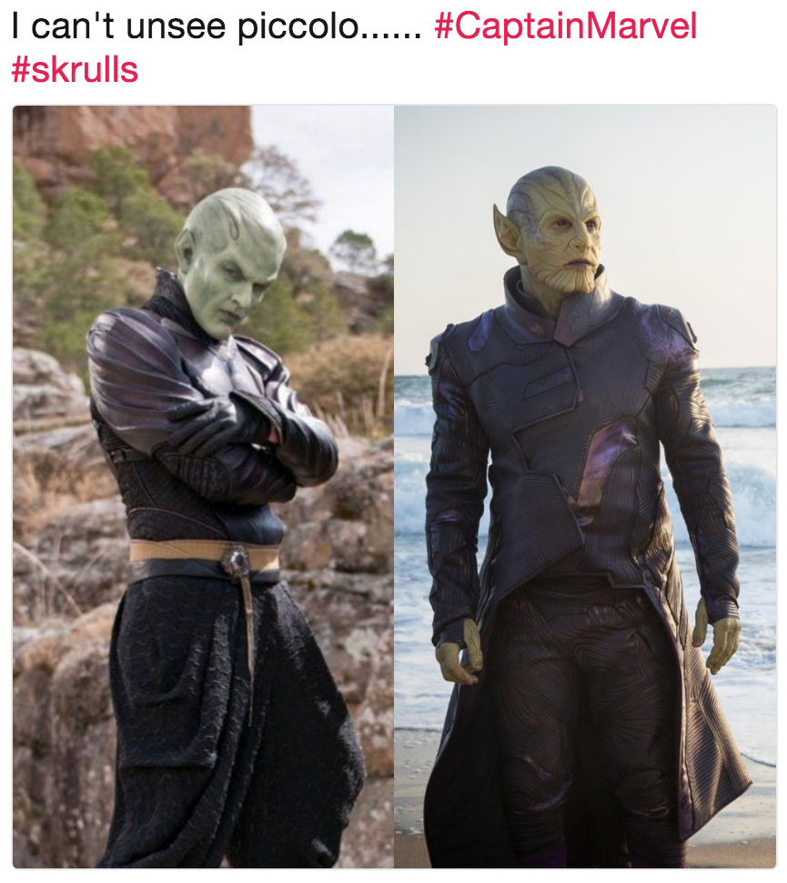 I Cant Unsee Piccolo Captainmarvel Skrulls Skrulls Know