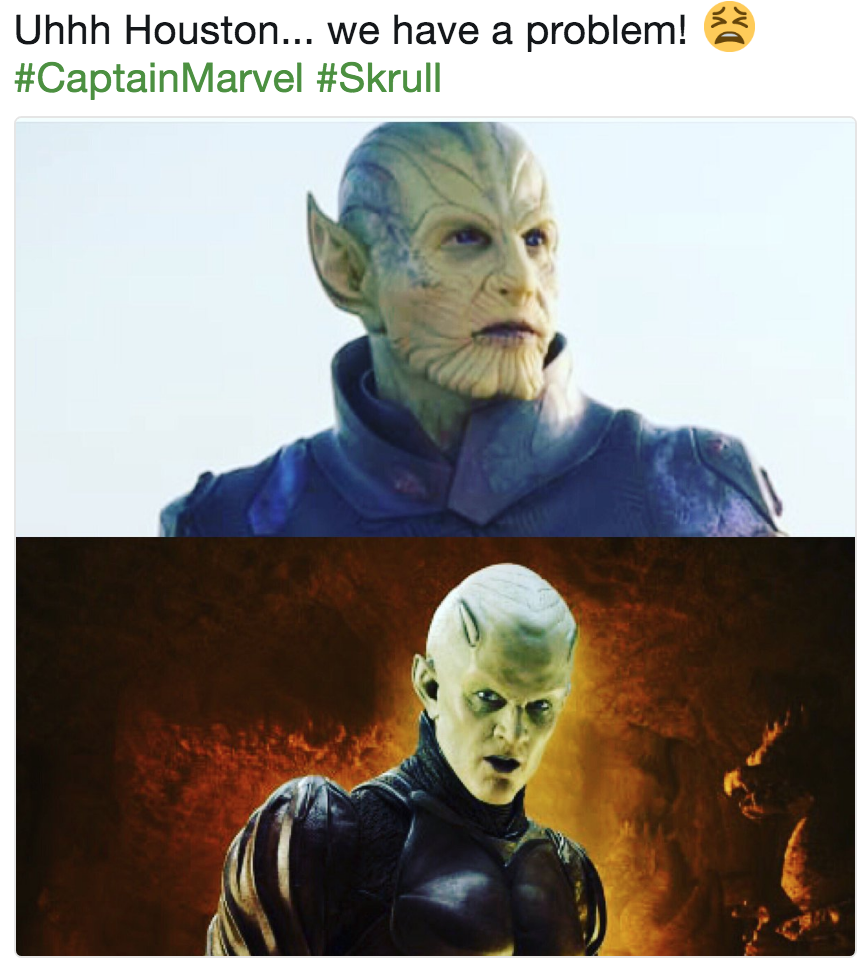 Uhhh Houston We Have A Problem Captainmarvel Skrull